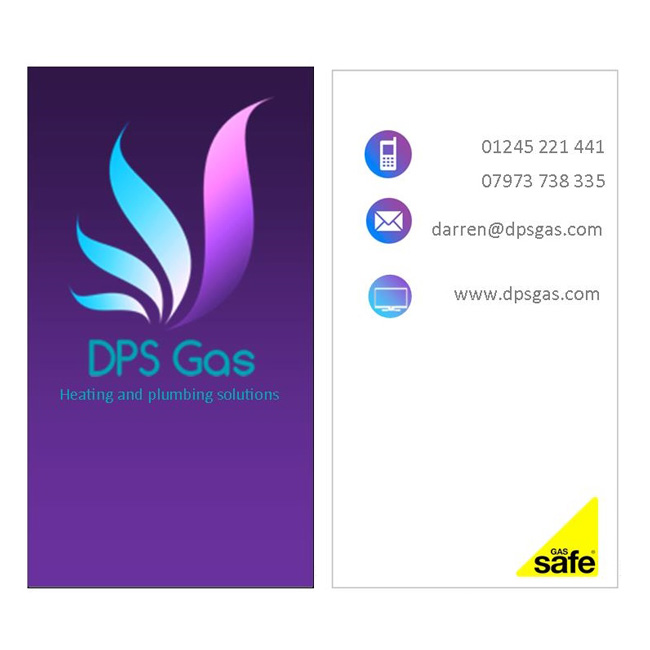 DPS Gas doubled-sided business card design